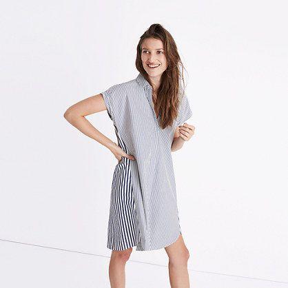Madewell+-+Stripe-Mix+Shirtdress