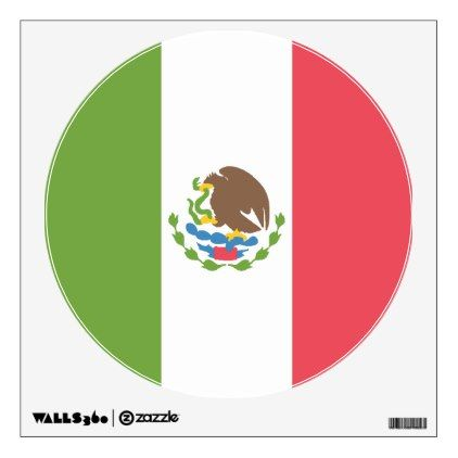 Mexico Flag Emoji Inspired Wall Decal - walldecals home decor cyo custom wall decals