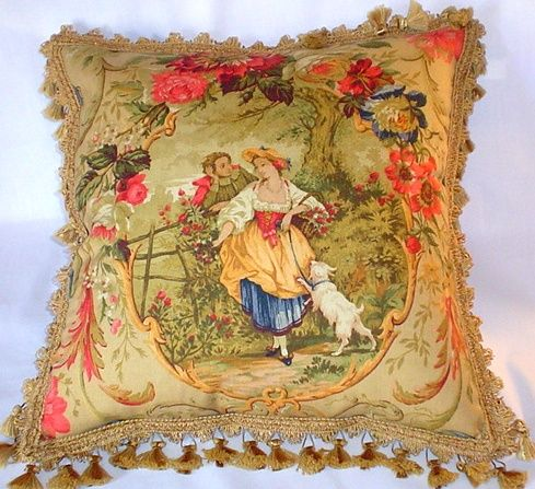 Beautiful toile pillow