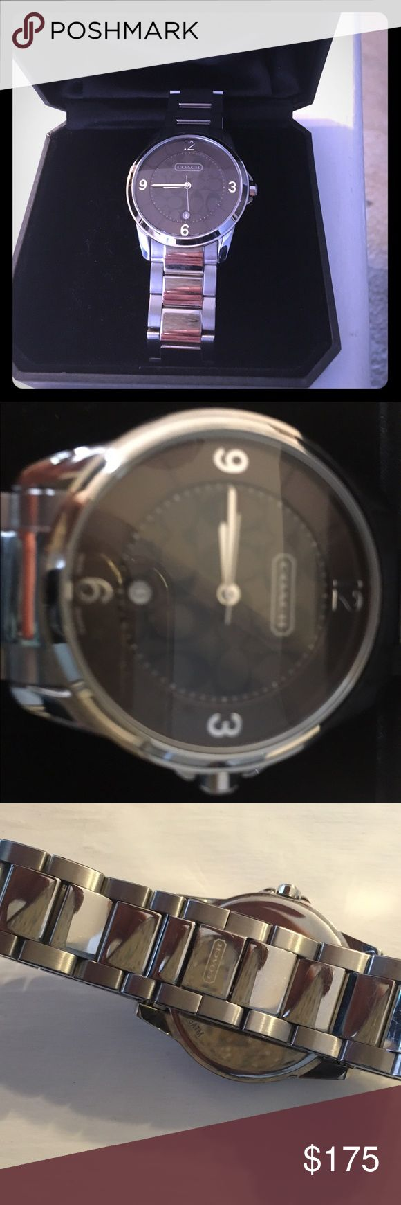 Mens silver Coach watch Mens silver Coach watch.  In perfect condition does not have original box Coach Accessories Watches