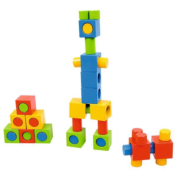 Drewniane klocki kolorowe Moje Bambino #wood #toys #fun #kids  http://www.mojebambino.pl/klocki-konstrukcyjne/3505-drewniane-klocki-kolorowe.html