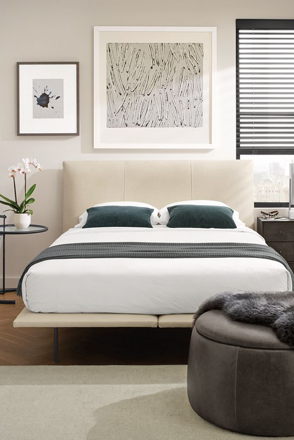 Hanson Bed In Leather Modern Contemporary Beds Modern