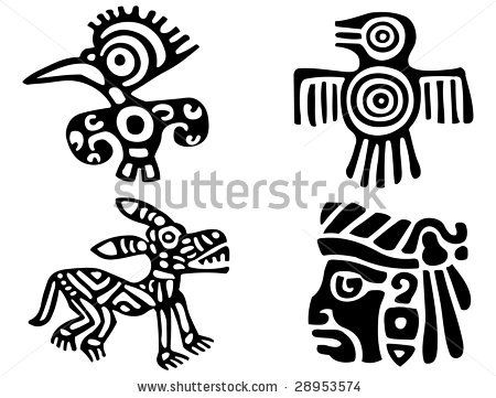 Stock Images similar to ID 86520955 - stylized mayan symbol tattoo ...