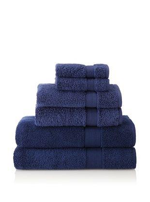 66 Off Espalma 6 Piece Signature Bath Towel Set Navy