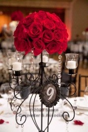 Black, red and white wedding theme - not your colors, but I like the general idea.
