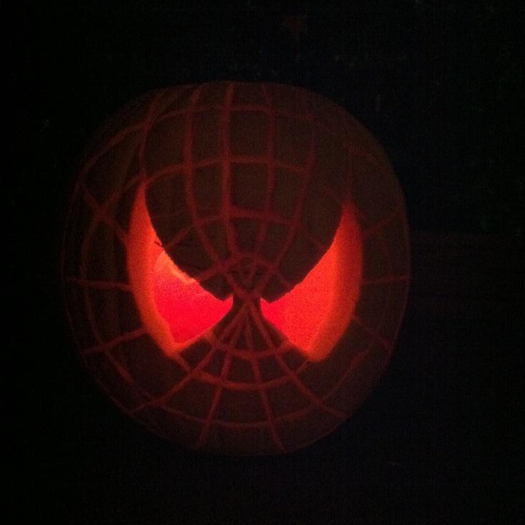 Spider Man Pumpkin Thinkgeekoween Pumpkin Ideas