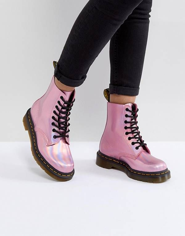 Dr Martens Leather Holographic Pink