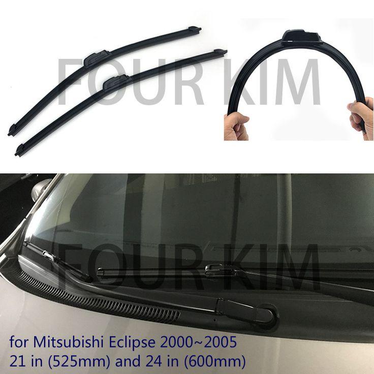 """Wiper blade for Mitsubishi Eclipse 2000~2005 21''+24"""" U/J Hook Car Windscreen No bone Wiper WP-348 #Affiliate"""