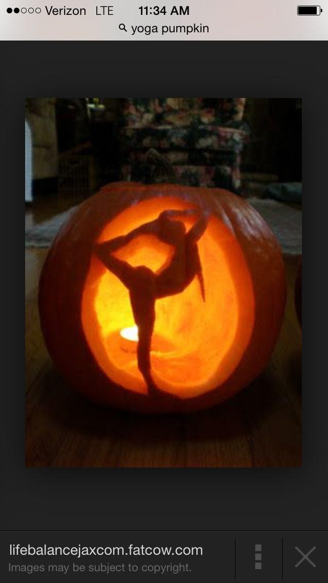 Yoga Pose Pumpkin Halloween Pinterest Yoga Poses