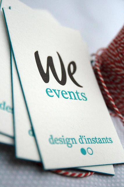 We Events Letterpress Business Card With Painted Edge by ElegantePress, via Flickr