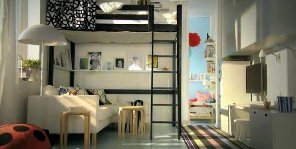 Decoraci n camas elevadas buscar con google cama for Decoracion espacios chicos