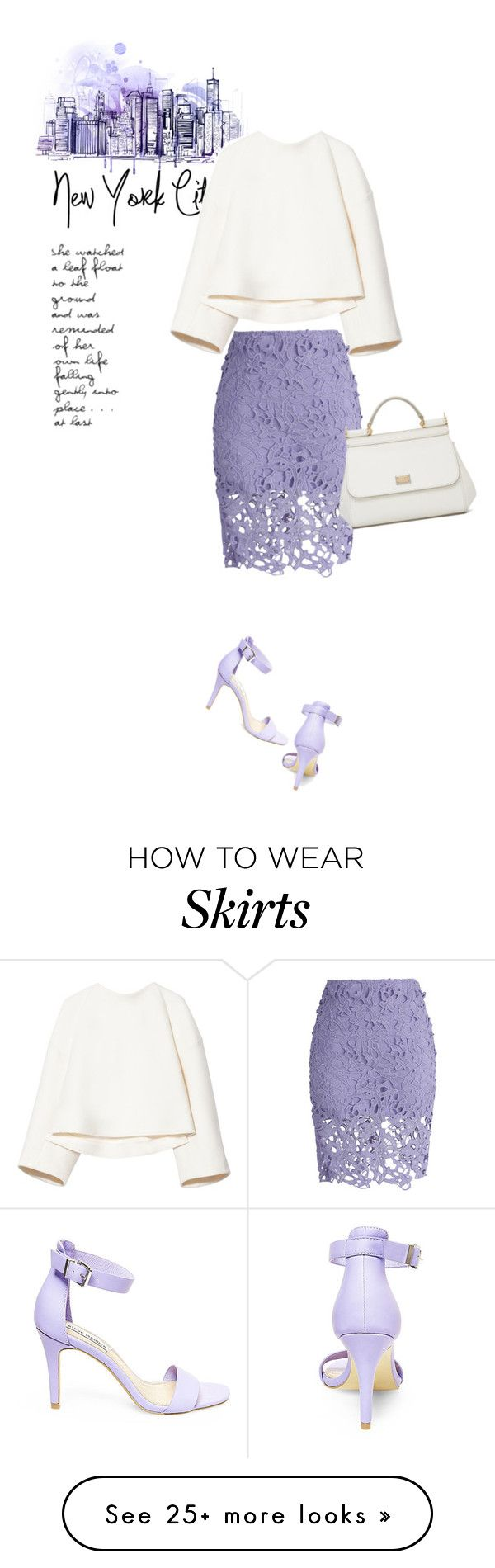 """""""Lovely Lavender Lace"""" by youaresofashion on Polyvore featuring Marni, Chicwish, Steve Madden, Dolce&Gabbana and lace"""