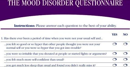 The Mood Disorder Questionnaire (MDQ) is a screening tool to check if you have Bipolar Disorder. MDQ can be administered either by a medical professional or...more at http://www.beliefnet.com/columnists/depressionhelp/2016/03/mood-disorder-questionnaire-mdq-for-bipolar-disorder.html