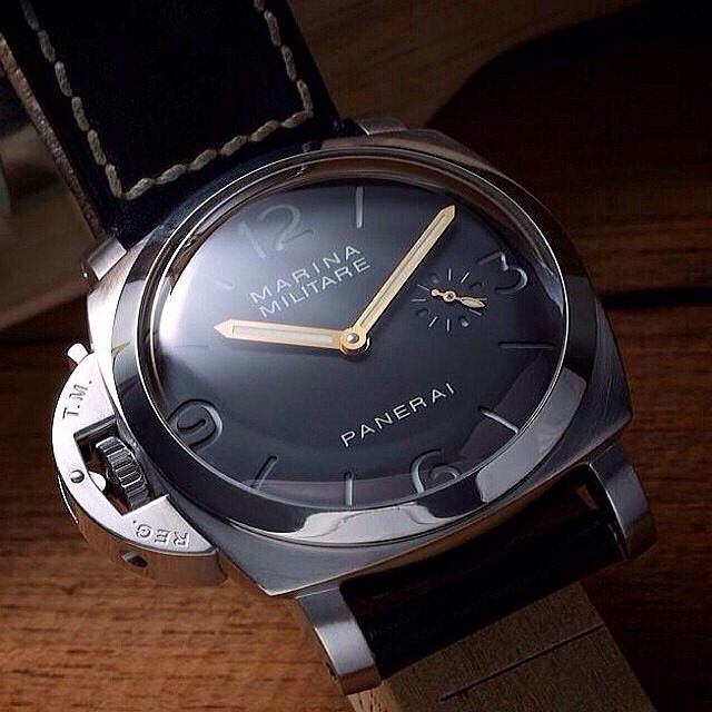 This is a Mens Panerai Marina Militare WATCH! BLACK DIAL! Automatic Movement Power Reserve Chronograph Feature. Contact Loucri Jewelers for this and other Luxury Time pieces. Email sales@loucri.com or call 516 960 7757.