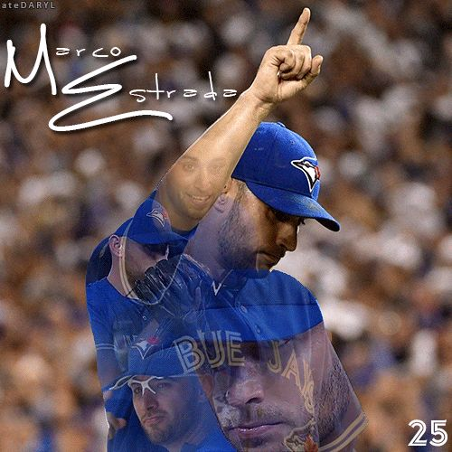 """""""I just see the glove and I try to hit it every time. And I know if I keep hitting it, I'm still going to be pretty successful."""" - Marco Estrada Follow @ ateDARYL Photo from: Nick Turchiaro-USA TODAY Sports Quote From: Arden Zwelling-Sportsnet"""