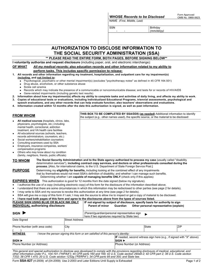 Sign Document social security Pinterest Social security - hipaa authorization form