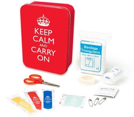 Keep Calm and Carry On First Aid Kit