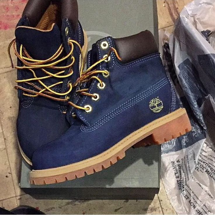 navy blue timberland boots ♥: