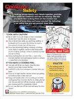 Cooking Safety tips from the National Fire Protection Association    http://www.nfpa.org/categoryList.asp?categoryID=282=Safety%20Information/For%20consumers/Causes/Cooking%5Ftest=1