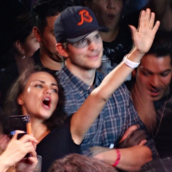 Mila Kunis and Ashton Kutcher at the Madonna Concert in LA