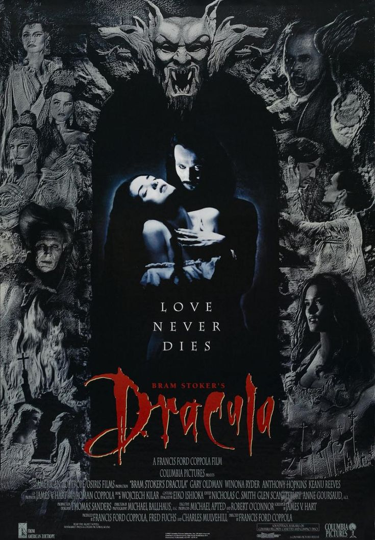 Bram Stoker's Dracula (1992) - Gary Oldman, Winona Ryder, Anthony Hopkins, Keanu Reeves, Richard E. Grant, Cary Elwes, Sadie Frost, Tom Waits, Bill Campbell, Monica Bellucci, Jay Robinson