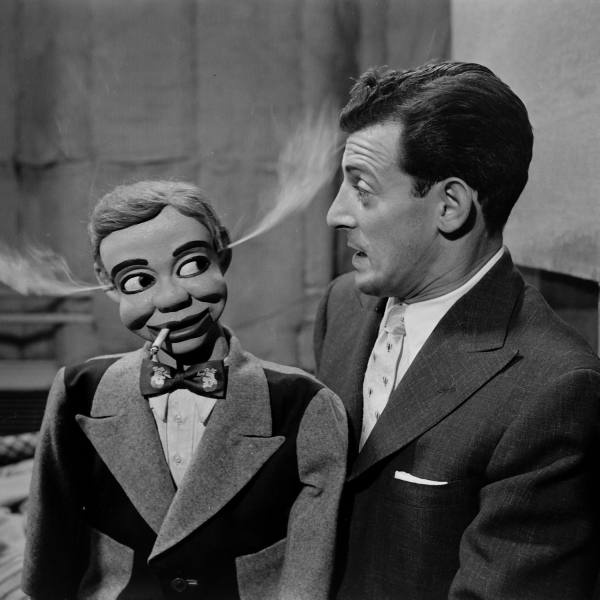 While it was Bil Baird who got the kids of 1948 - 56 loving marionettes, it was Paul Winchell and his wooden sidekicks Jerry Mahoney and Knucklehead Smiff who awakened us all to the wonders of ventriloquism. My brother and I had cheap vent figures but  no technique, but our wealthy cousin Tommy McConnell developed a professional act for his professional-quality sidekick (name forgotten).  Later Tommy became a martial arts expert, before an early death from cancer. Winchell's own career was…