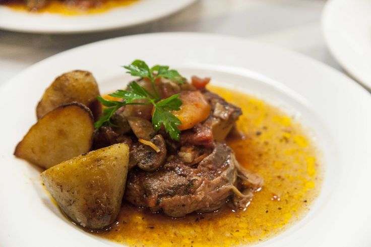 Slow cooked beef cheeks with potatoes roasted in duck fat for our  'Slow Cooking For Fast People' Workshop  photo by Helen Coetzee www.energycoachinginstitute.com #rocketfuelonanbudget #joannarushton #slow #slowcooking #healthyrecipes #healthydinner #healthychoices #nutritioncoach #energycoachinginstitute