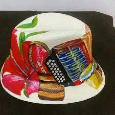Resultado de imagen para sombrero pintado a mano