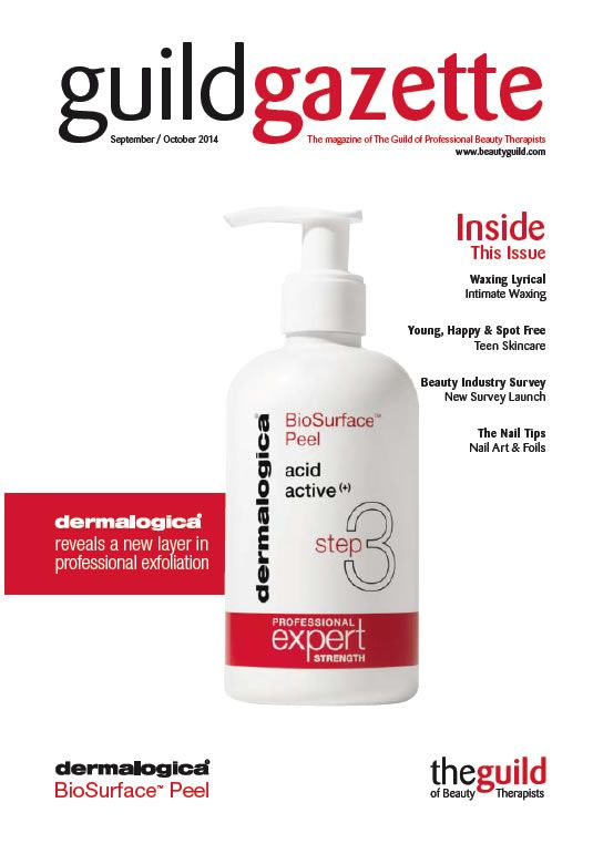 Sept/Oct 2014 Guild Gazette with Dermalogica Front Cover
