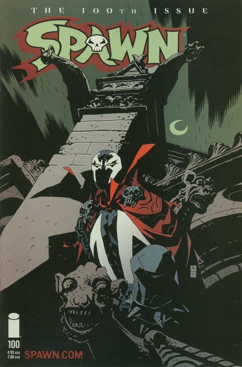 Spawn #100 variant cover by Mike Mignola