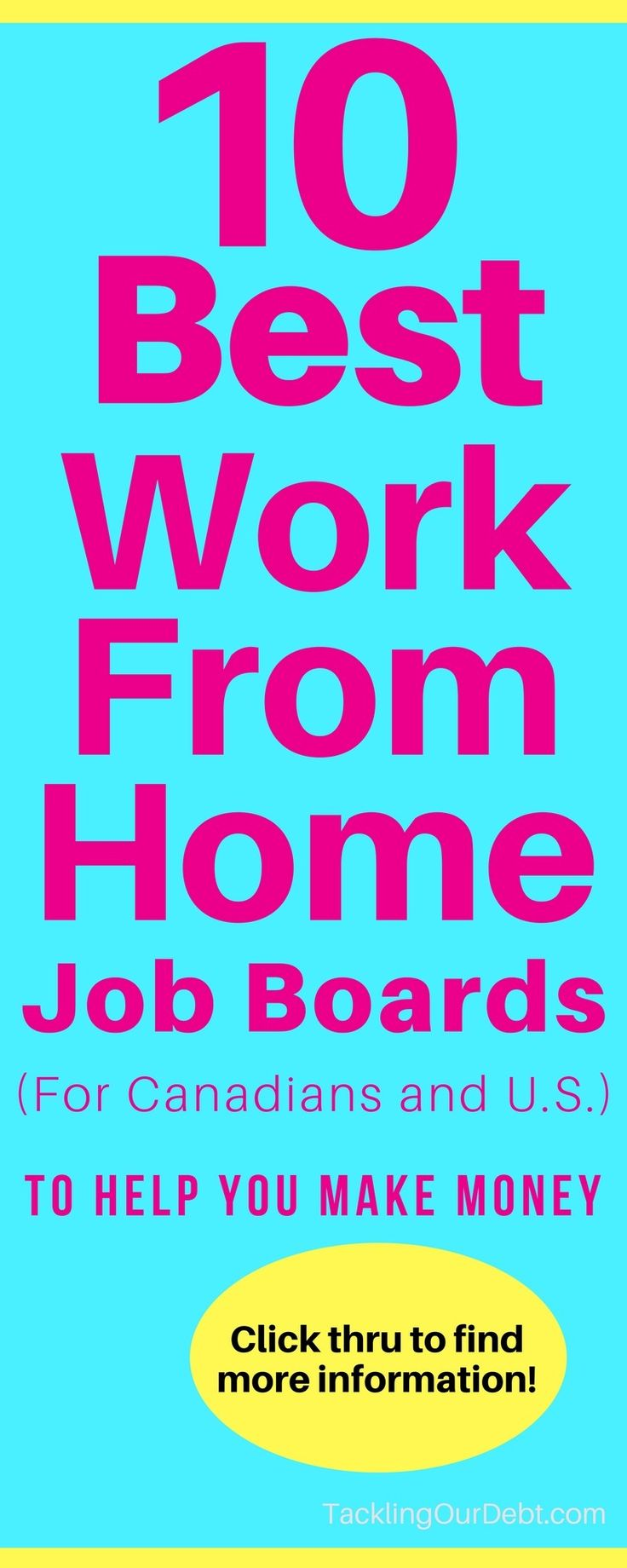 Need to find a real work-from-home job? Here are the 10 Best Work From Home Job Boards on the Internet for both Canadians and US. Get started making money today. Click thru to learn more!