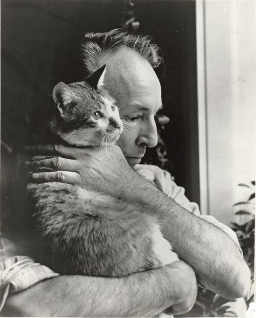 choreographer George Balanchine (Mr. B) and his cat Mourka
