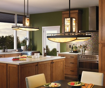 Nice fixtures for a Craftsman style home.