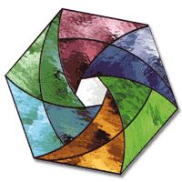 Stained Glass Free Pattern, Geometric Pinwheel