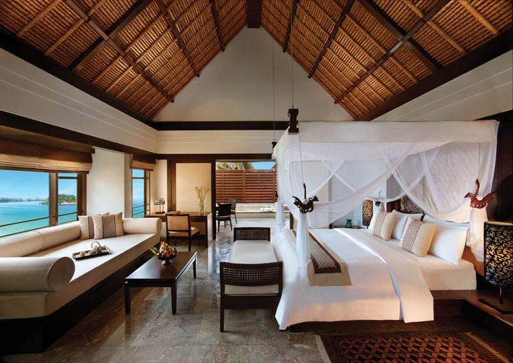Secluded atop the bay of Bintan, all the rooms in Banyan Tree Resorts have views toward the South China Sea.