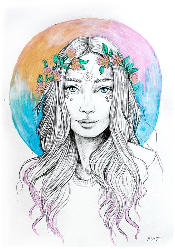 Moon goddess // www.ponygold.bigcartel.com