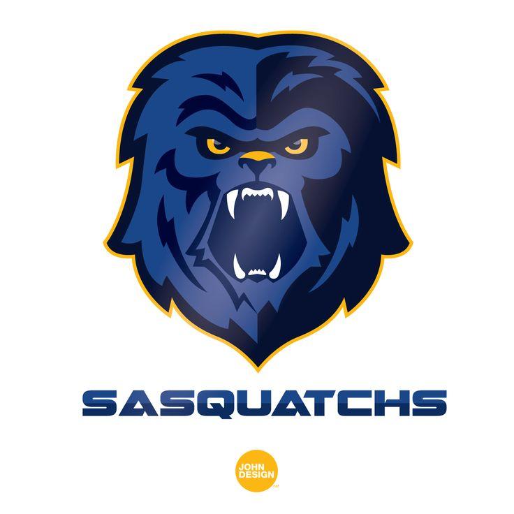 Logo réalisé pour l'équipe de football américain de Gap > Les SASQUATCHS !  By www.johndesign.net