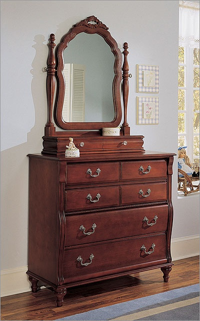 young america by stanley madison dressing chest with optional mirror hutch lilys big girl. Black Bedroom Furniture Sets. Home Design Ideas