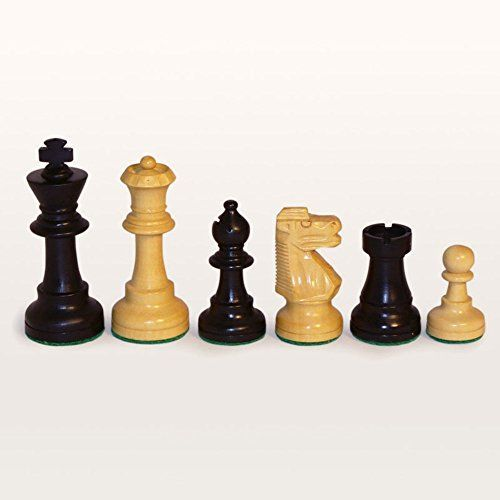 Black and Natural Boxwood French Knight Chess Pieces ** Click image to review more details.