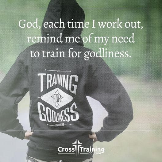 """""""Physical training is good, but training for godliness is much better, promising benefits in this life and in the life to come. – 1 Timothy 4:8  #crosstrainingdevo""""  Excerpt From: Michelle Myers. """"Cross Training Devos, Volume One."""" iBooks. https://itun.es/us/32Lo7.l"""