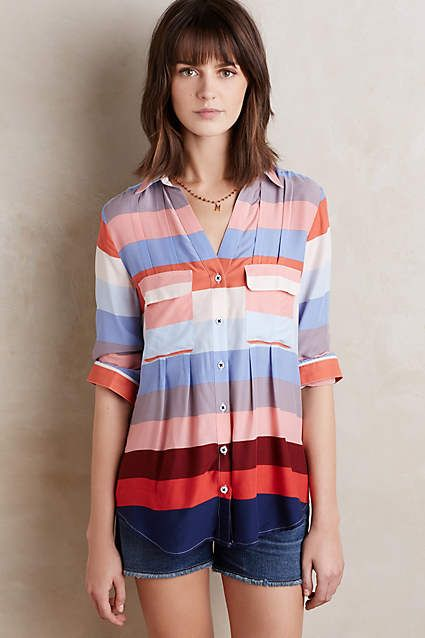 Wynwood Buttondown - anthropologie.com...such interesting stripes and great details