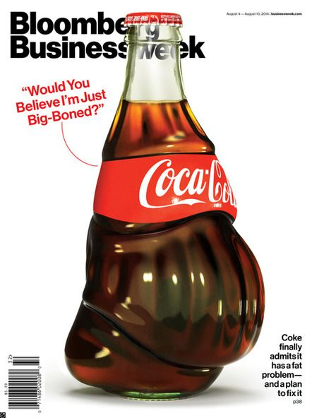 »Bloomberg Businessweek« -  Fette Cola-Flasche als Cover-Illustration - CGI-Artist Justin Metz