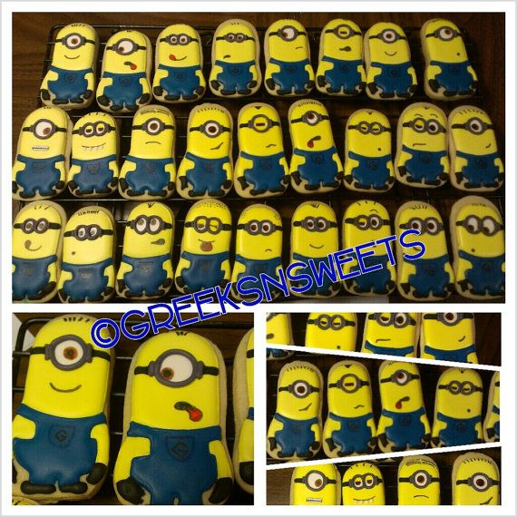 Despicable Me Minion Sugar Cookies....Greeks-N-Sweets