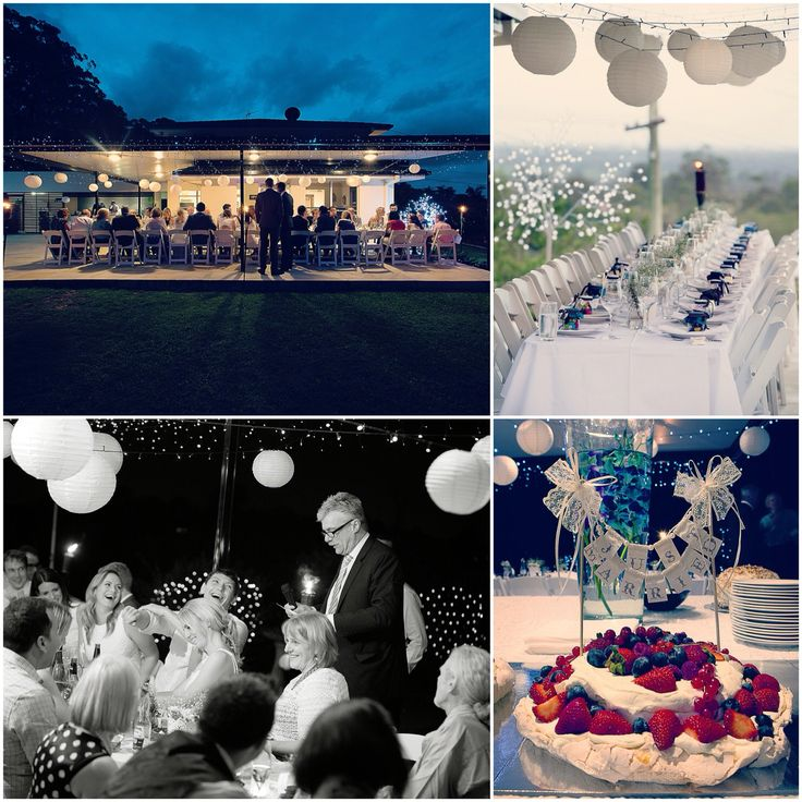 Reception under the stars, lit by lantern and candlelight!