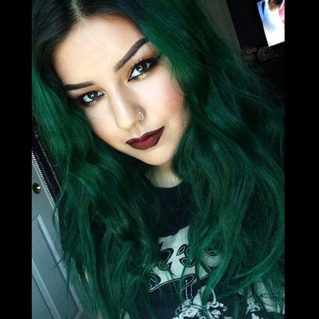 dark green hair ideas