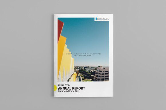 Annual Report Template by GreenDesign on @creativemarket