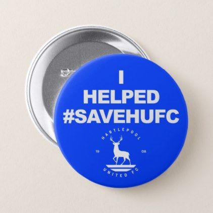 #SaveHUFC Hartlepool United Button - accessories accessory gift idea stylish unique custom