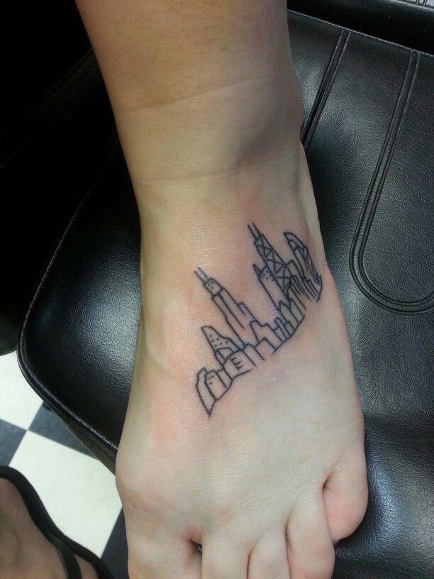 19 best tattoos images on pinterest vegas skyline for Las vegas skyline tattoo