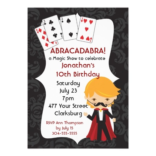 17 best Kids Magic Birthday Party Invitations images on Pinterest