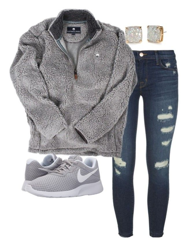 """""""•college football hall of fame•"""" by mbprep on Polyvore featuring J Brand, NIKE and Kate Spade"""